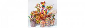 Bonbonnières en plastique candy bar multicouleur