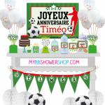 Anniversaire football kit printable mybbshowershop foot vert et noir