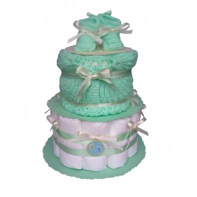 f3a7b4464c6ff Crédit Photo Caroline Gindro jeux baby shower gâteau de couches bleu vert