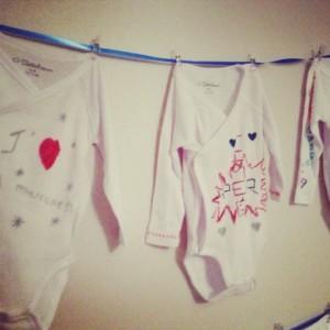 jeux baby shower décoration de body