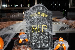 Sweet table halloween décoration RIP