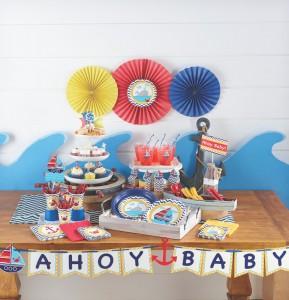 Premier anniversaire petit bateau sweet table