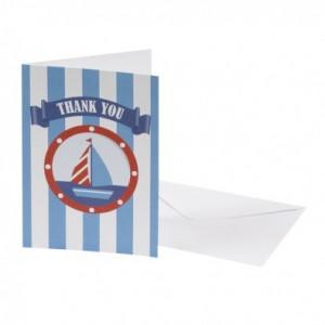 Premier anniversaire petit bateau carte de remerciements
