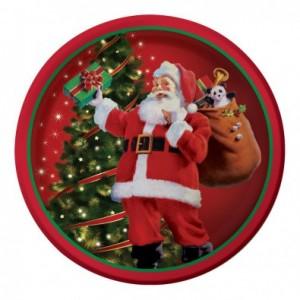 Kit printable grandes assiettes thème Noël rétro