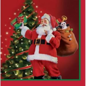 Kit printable Noël serviettes de table thème père noël