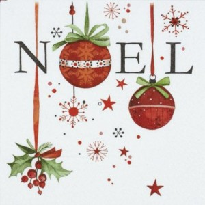 kit printable Noël serviettes boules de noël