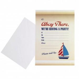 Premier anniversaire petit bateau carte d'invitation