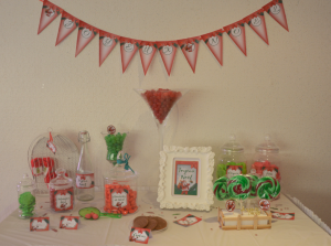 kit printable père noël rétro mybbshowershop sweet table
