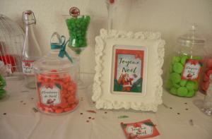 kit printable Noël thème rétro centre de table cadre