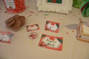 kit printable Noël étiquettes de buffet
