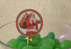 kit printable Noëm piques à cup cakes père noël