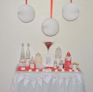 kit printable Noël thème boules de Noël  sweet table