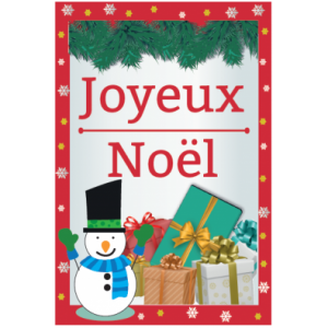 Kit printable bonhomme de neige centre de table