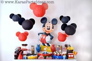 Anniversaire Mickey déco de salle boules chinoises