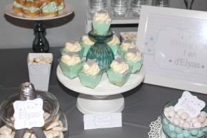 anniversaire thème étoiles support à cupcakes