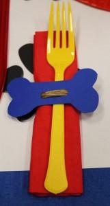 Anniversaire Pat Patrouille décoration de table, serviettes et fourchettes