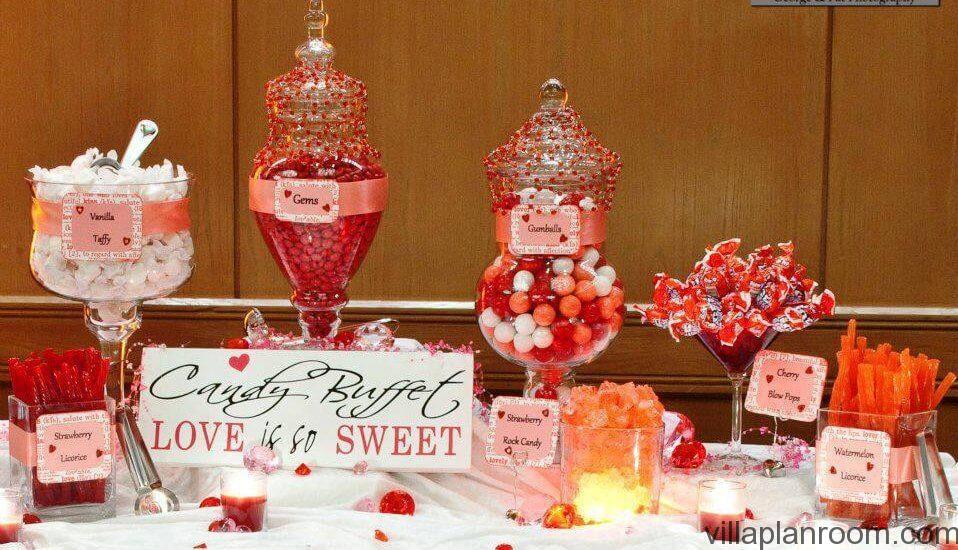 Décorations de tables saint valentin organisation baby