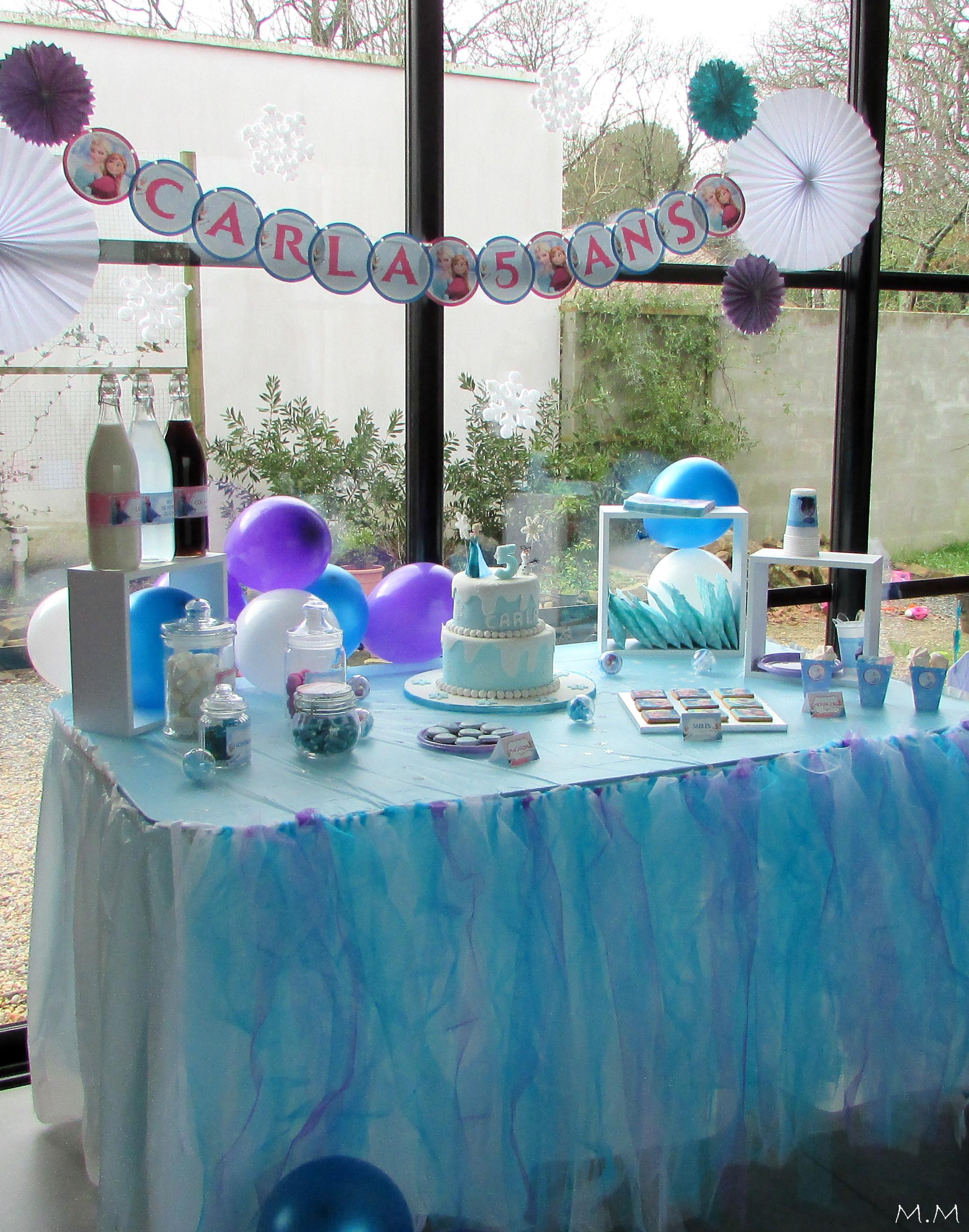 un anniversaire reine des neiges pour les 5 ans de carla organisation baby shower