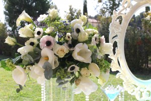 Baby shower Baby&Co bouquet de fleurs