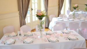 baptême thème des anges : tables des invités