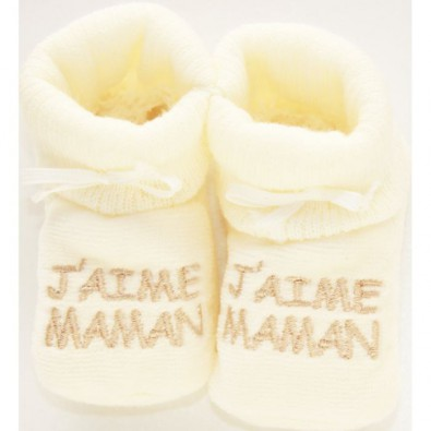 chaussons-bebes-j-adore-maman-couleur-ivoire