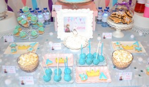 Sweet table Reine des Neiges