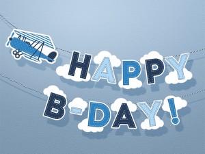 banderole anniversaire petit avion
