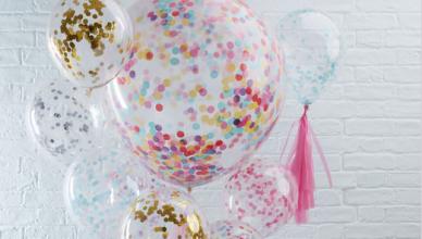 Les Ballons Confettis pour votre Décoration de fête