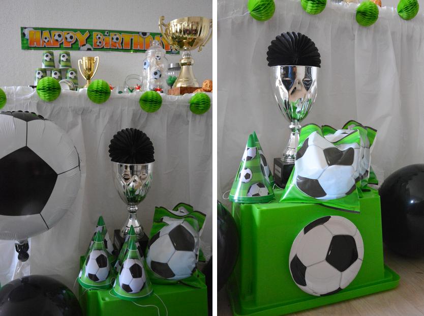 Un anniversaire foot pour mini messi organiser un anniversaire enfant - Decoration anniversaire football ...