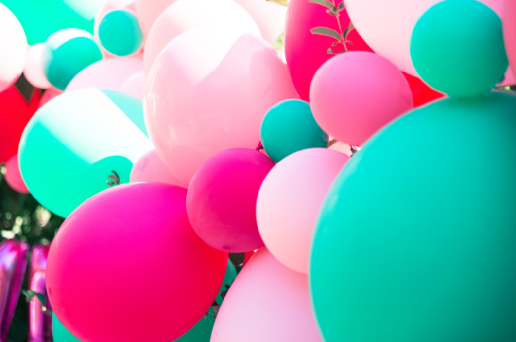 ballons organiques de tropical party