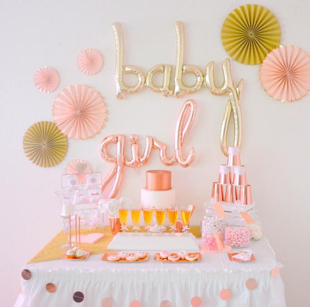 bapt me rose gold et dor organisation baby shower anniversaire enfants et bapt me. Black Bedroom Furniture Sets. Home Design Ideas