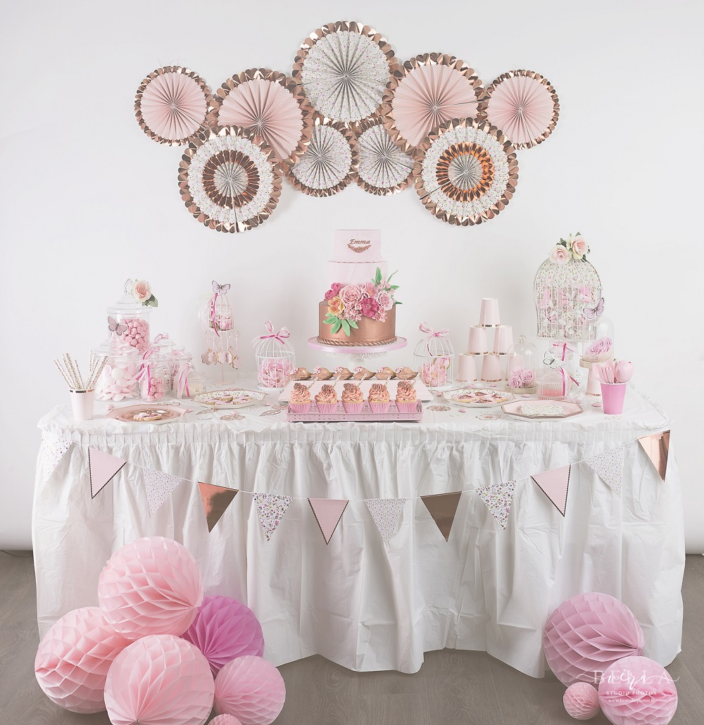 Bapteme Liberty Rose Gold Mybbshowershop Organisation Baby Shower